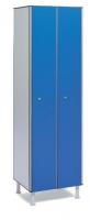 Taquilla fenólica con perfil de aluminio - Taquilla fenólica con perfil de aluminio Formada a base de láminas de celulosa homogeneizada con resinas fenólicas y compactadas. Núcleo interior negro. Patas de PVC con niveladores. Perfil resistente a la oxidación. Herrajes y tornillería de acero inox. Expesor puerta de 10 y 12 mm.