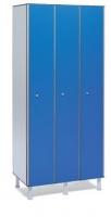 Taquilla fenólica con perfil de aluminio - Taquilla fenólica con perfil de aluminio. Formada a base de láminas de celulosa homogeneizada con resinas fenólicas y compactadas. Núcleo interior negro. Patas de PVC con niveladores. Perfil resistente a la oxidación. Herrajes y tornillería de acero inox. Expesor puerta de 10 y 12 mm.
