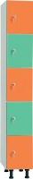 Taquilla en melamina - Taquilla en melamina No recomendable para espacios húmedos. Gran resistencia. Servicio rápido Pata regulable en altura. Trasera en tablex perforado y totalmente enmarcada Modulos individuales de 16mm. de espesor. Cerradura de resbalón con bombillo extraíble y llave maestra. Placa de numeración. Canteado PVC Barra para perchas. Bandeja y colgador para perchas.