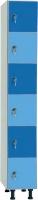 Taquilla en melamina - Taquilla en melamina No recomendable para espacios húmedos. Gran resistencia. Servicio rápido Pata regulable en altura. Trasera en tablex perforado y totalmente enmarcada Modulos individuales de 16mm. de espesor. Cerradura de resbalón con bombillo extraíble y llave maestra. Placa de numeración. Canteado PVC Barra para perchas. Bandeja y colgador par aperchas.