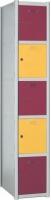 Taquilla modular - Taquilla modular Fácil montaje No recomendable para espacios húmedos Gran resistencia Cerradura de llave Taquilla metálica. Pintada en epoxi.Trasera y bandeja galvanizadas. Cuerpo gris, puerta azul. Etiquetero y rosetas de ventilación.