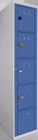 Taquilla modular - Taquilla modular Gran resistencia Cerradura de llave Pintada en epoxi Cuerpo gris, puerta azul. Servicio rápido