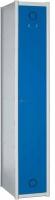 Taquilla modular - • Puerta con refuerzo longitudinal y anilla toallero. • Dispone de bandeja y colgador para perchas. • Color de puertas a elegir (cuerpo gris)
