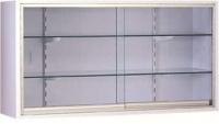 Vitrina - Vitrina mural. Fabricada en su totalidad en Acero esmaltado epoxi. Puertas de luna corredera. Dos estantes de cristal