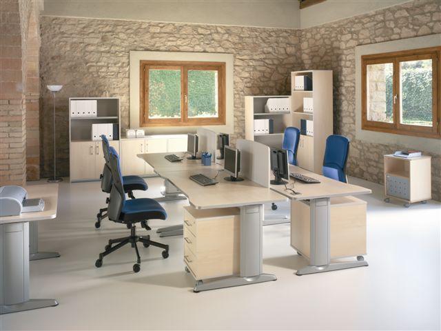 """Composición de muebles nº 8 de la linea Metal - Aquí tienes la última tendencia en mobiliario de oficina de línea minimalista con un plazo de entrega de 2 a 7 días. Solicítanos precios de estos productos por teléfono o mail mientras actualizamos la Web. Pulse sobre el botón """"descargar"""" para ver carac"""