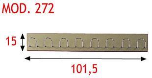 Perchero - Tabla en DM laminado con cantos redondeados barnizados con poliuretano. Colgadores de varilla cromados.