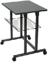 Mesa impresora auxiliar - Mesa impresora auxiliar ideal para colocar dentro de su oficina el fax o la impresora y que dispone de rejilla para recogida de papel. Acabado met�lico.
