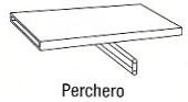Perchero - Perchero. Medida 600cm