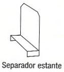 Separador estante - Separador estante. Medida h=25cm