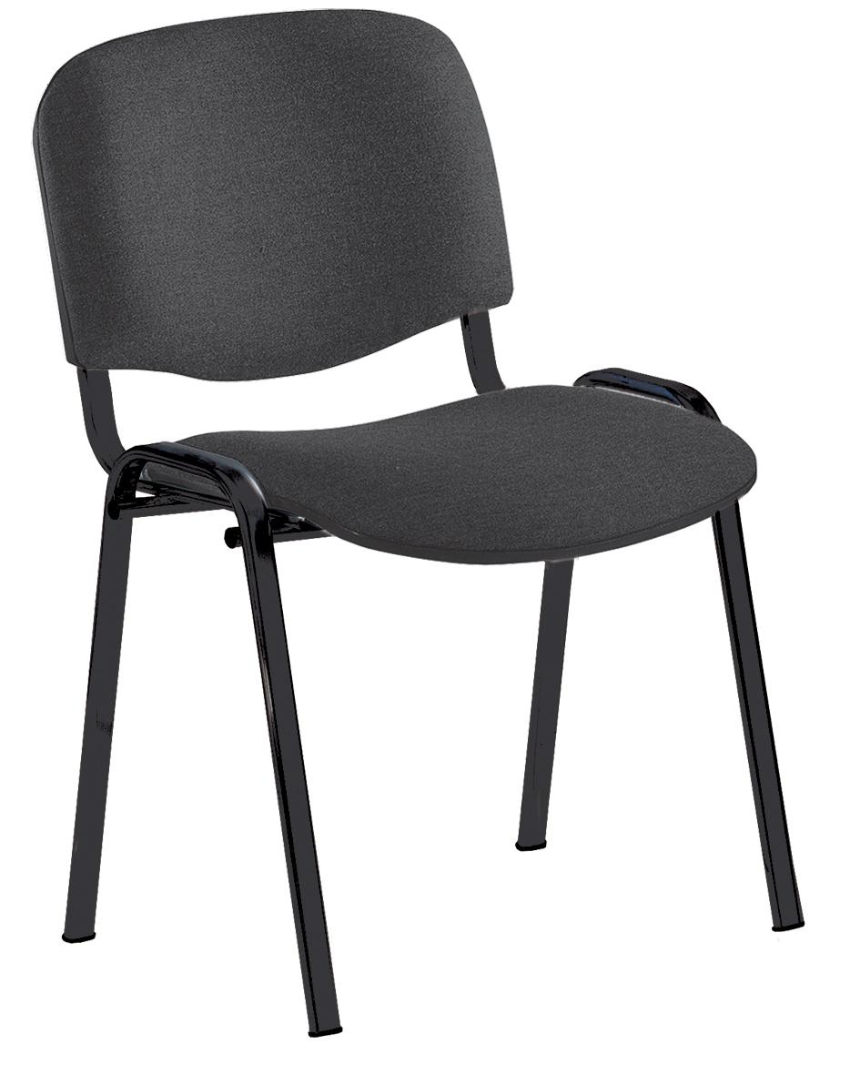 Silla confidente silla de oficina mobiliario escolar for Sillas negras tapizadas
