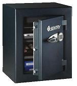 Caja de seguridad antirrobo - Caja de seguridad de gran dimensión, con cierre electrónico apto para 6 claves de seguridad, llave de desbloqueo en caso de olvido o pérdida del código de seguridad (2 juegos de llaves incluidos), 3 cerrojos de seguridad, 2 estanterías forradas en fel