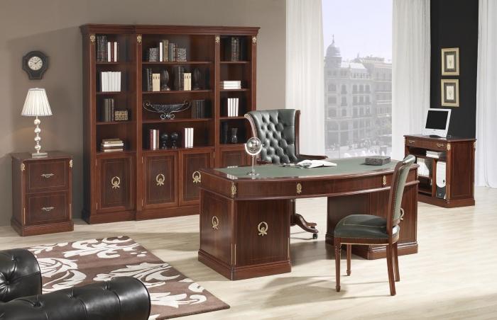 Despacho de oficina cl sico mobiofic for Mobiliario despacho