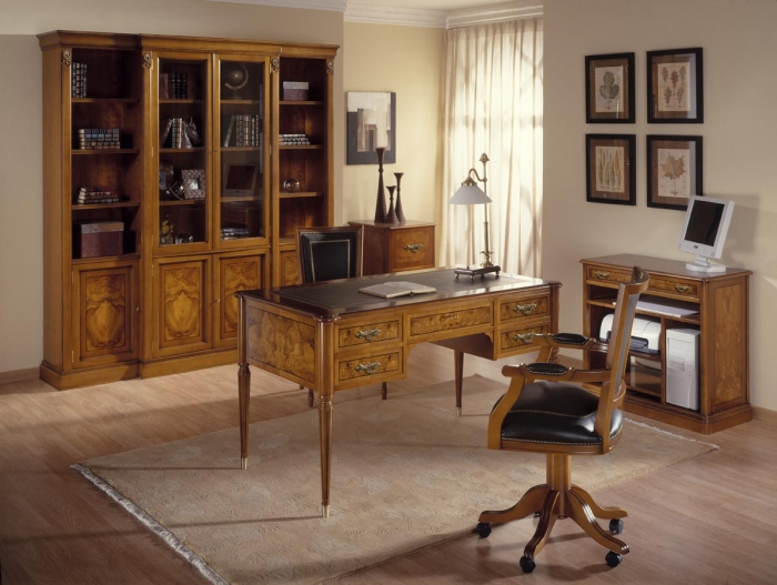 Muebles de despachos cl sicos mobiofic - Muebles despacho casa ...