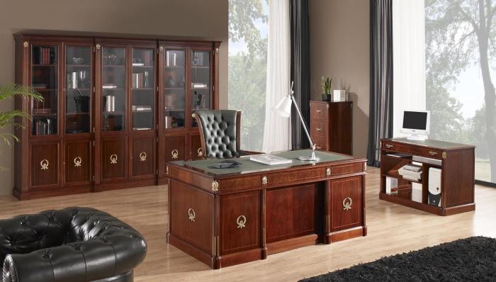 Despacho de oficina cl sico mobiofic - Muebles naturales para pintar ...