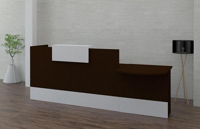 Recepci n o mostrador de oficina dise o recto mobiliario for Recepcion oficina moderna