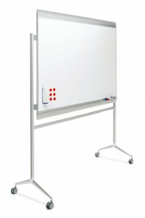 Pizarra mural blanca sobre soporte con ruedas muebles de for Pizarra oficina