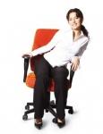 Silla de oficina diseño especial para mujeres.