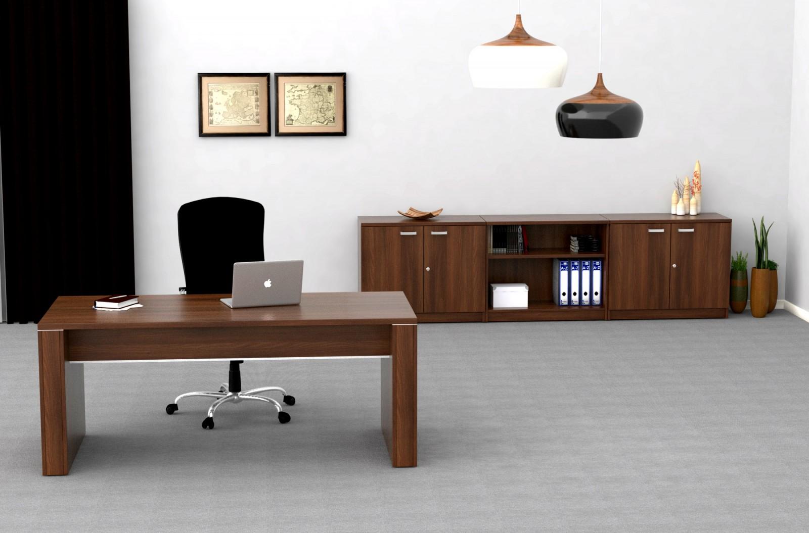 Mesa de despacho de 180 cm.  Muebles de oficina mobiofic.com