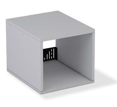 Mesa de oficina para incorporar mueble auxiliar |Mobiliario de ...