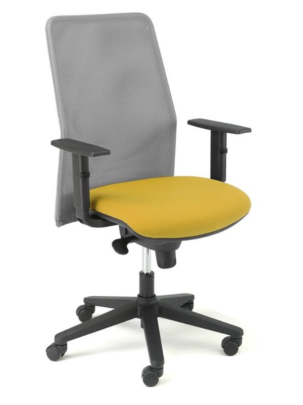 Silla de oficina respaldo red, asiento tapizado | Sillas operativas |  Mobiofic.com