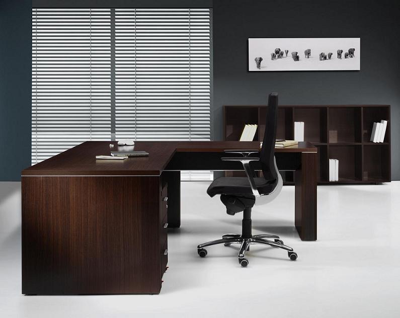 Mesa de despacho de 160 cm mobiliario de oficina for Mesas de despacho