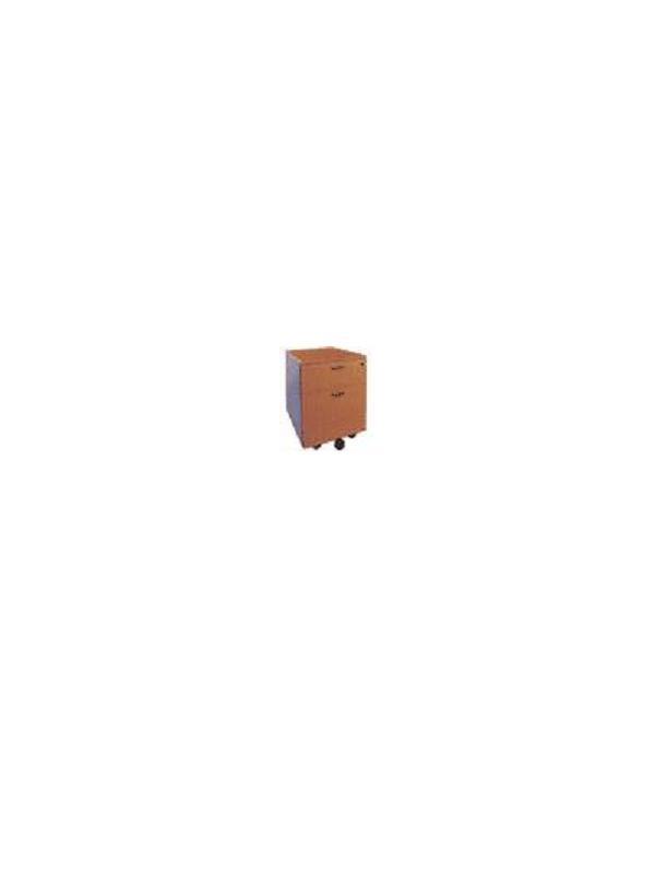 Cajonera con 1 cajon y 1 archivo - Cajonera rodante con 1 cajon y 1 archivo de 43x52x58