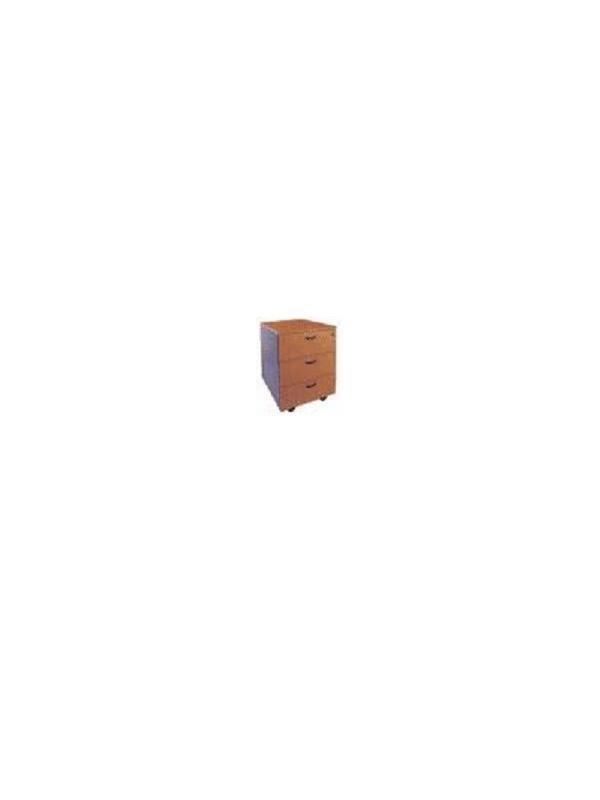 Cajonera 3 cajones y ruedas - Cajonera rodante de tres cajones 43x52x58