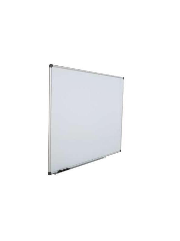 Pizarra pared - Pizarra de pared de melamina con marco de aluminio. Incluye bandeja de aluminio y rotulador negro. Viene montada.