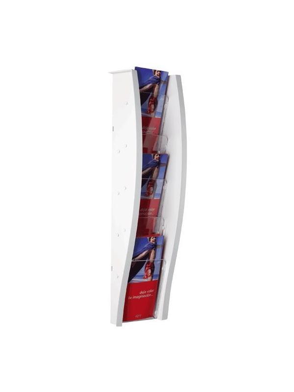 EXpositor mural - Expositor mural con 5 compartimentos Medidas:18 x 115 x 151 mm (fondo x ancho x alto) Formato de Papel:Formato 1/3 Din A-4 vertical