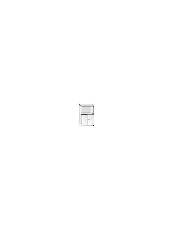 Armario puertas de cristal - Armario de oficina bajo con puertas de cristal sin marco. 3 estantes regulables.  Medida: 136 alto x 92 ancho x 40 fondo