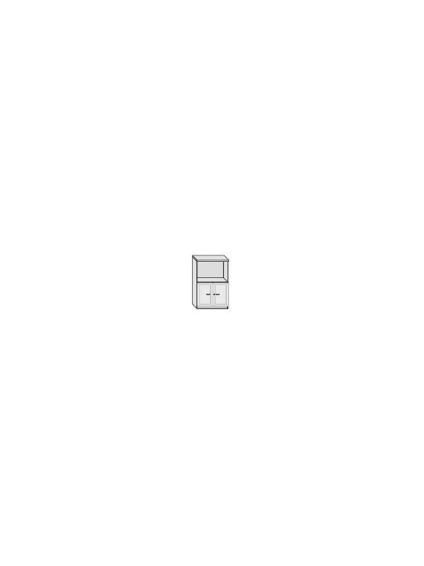 Armario puertas de cristal con marco - Armario de oficina bajo con puertas de cristal. 3 estantes regulables.  Medida: 136 alto x 92 ancho x 40 fondo