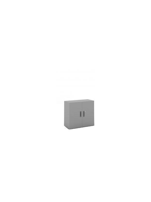 Armario de puertas batientes con 2 estantes - Armario de puertas batientes, con 3 estantes. Medidas 1060 de alto x 1000 de ancho x 450 de fondo