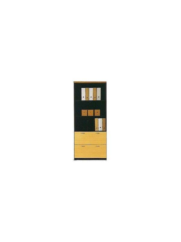 Muebles de oficina alto doble archivo con estantes 196*80*40 - Armario alto doble archivo DIN A-4 con 3 estantes y cerradura de 196cm de alto x 80cm de ancho x 40cm de profundidad.