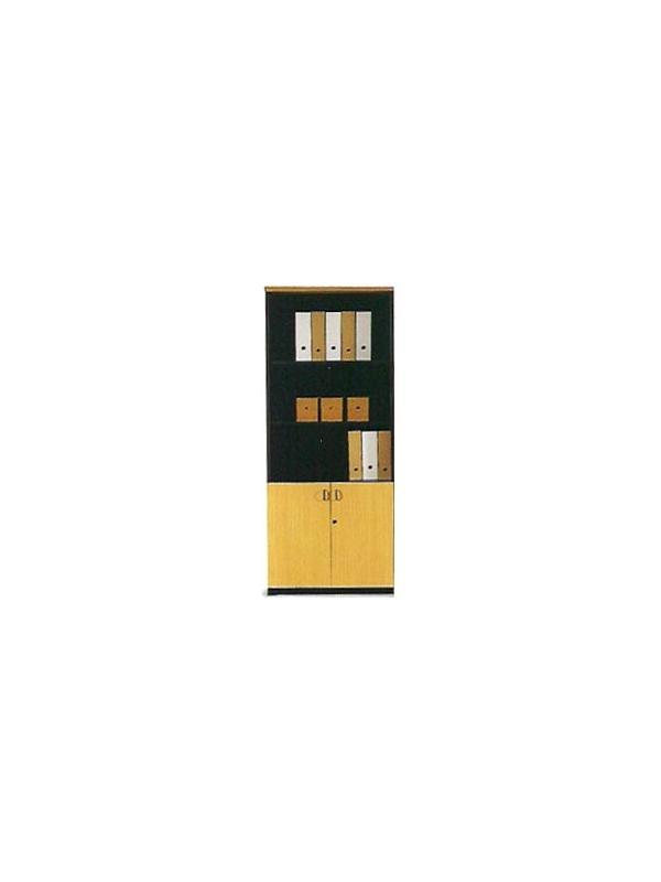 Mueble de oficina alto con puertas pequeñas 196*80*40 - Armario alto con puertas pequeñas y 3 estantes de 196cm de alto x 80cm de ancho x 40cm de profundidad.