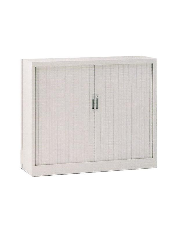 Armario de persiana con puerta vertical - Armario de persiana con puertas verticales con 3 estantes. Medidas 145cm de alto x 120cm de ancho x 45cm de fondo