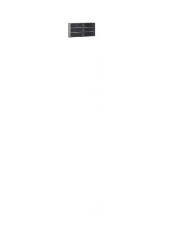 Armario sin puertas con 4 estantes - Armario-mostrador sin puertas con 4 estantes. Medidas 106cm de alto x 179cm de ancho x 45cm de fondo (separador central alm11179)