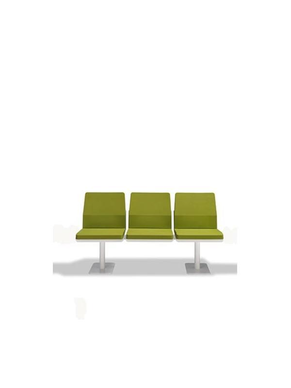 Bancada de espera - Bancada Estructura de aluminio  Plataformas de Acero 3 puestos