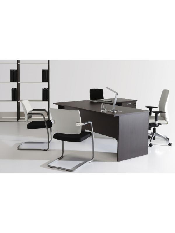Mesa de oficina basic 140*80*74 cm. - Mesa de oficina línea basic -140 cm. de larga x 80 cm. de fondo x 74 de altura -canteada en pvc anti-golpes (ala no incluida)