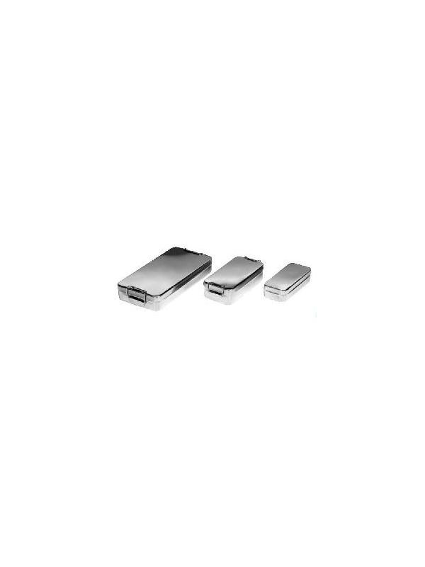 Cajas para instrumental - Cajas para instrumental embutidas. Fabricadas en Acero Inox. Diferentes medidas según necesidad. Con o sin asas.