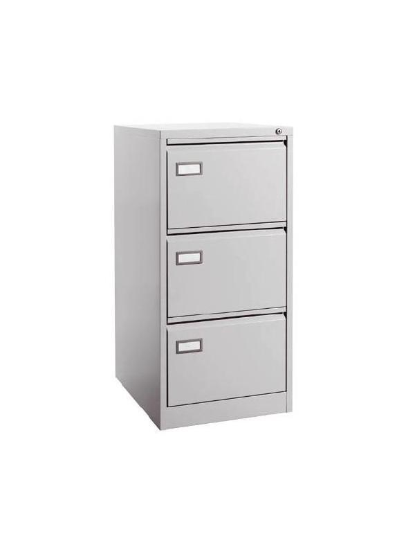Archivador metálico 3 cajones - Mueble archivador metálico 3 cajones para carpetas colgantes formato DIN A4 horizontal. Medidas exteriores: 620 x 420 x 1020 mm
