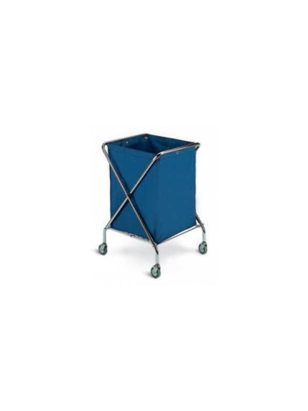 Carro ropa - Carro para transporte de ropa sucia doble. Plegable. Fabricado en de Acero Inox. Sacos de lona plastificado. Cuatro ruedas para su mejor desplazamiento.
