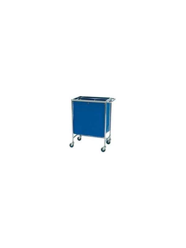 Carro ropa - Carro para transporte de ropa sucia. Fabricado en Acero Cromado. 1 Saco de lona Cuatro ruedas para su mejor desplazamiento.