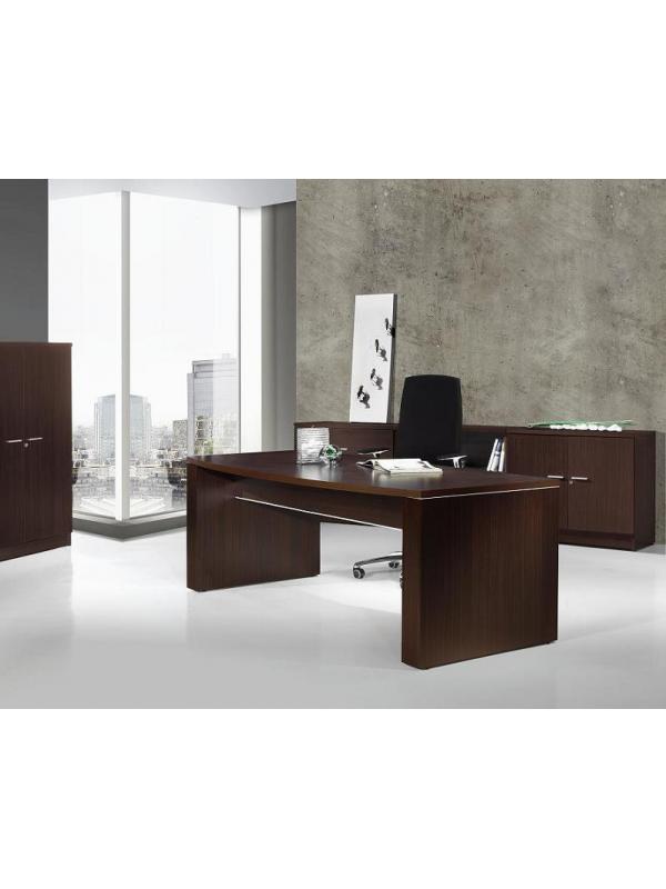 Mesa de despacho de 200*80*74 - Mesa recta para despacho de dirección de 200 ancho x 80 de fondo x 74 de alto. Madera melamínica anti-rayaduras.