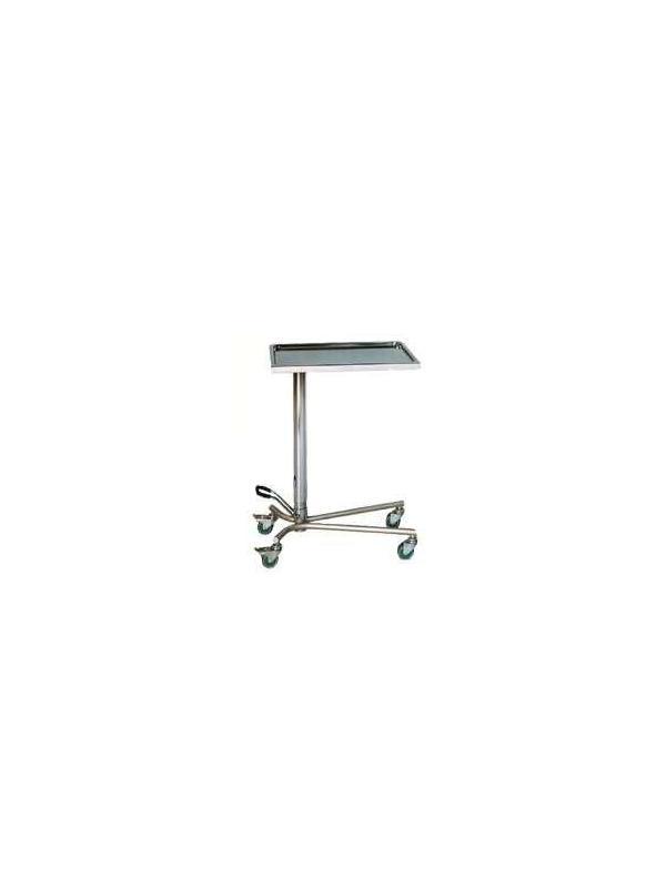 """Mesa para instrumental - Mesa """"Hidráulica"""" Fabricada en Acero Inox. Bandeja extraíble en Acero Inox. Elevación mediante pedal hidráulico. Pie de aluminio."""