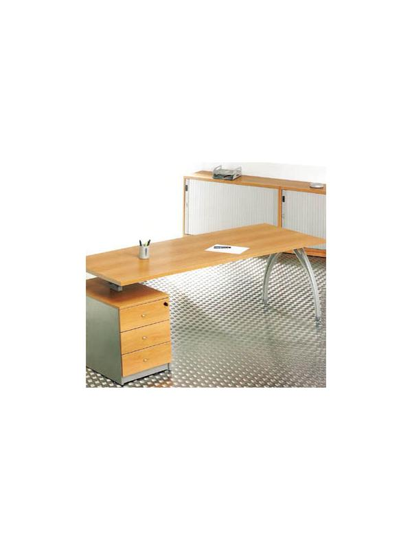 Mesa de oficina con bloque pedestal de 3 cajones 200*80*74 - Mesa de oficina con bloque pedestal de 3 cajones, cajón metálico, de 200cm de largo x 80cm de ancho x 74cm de alto. El bloque de cajones es de 43cm de largo x 80cm de ancho.