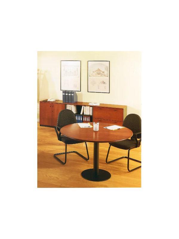 Mesa redonda de juntas 100*74 - Mesa redonda de juntas de 100cm de diámetro x 74cm de alto.