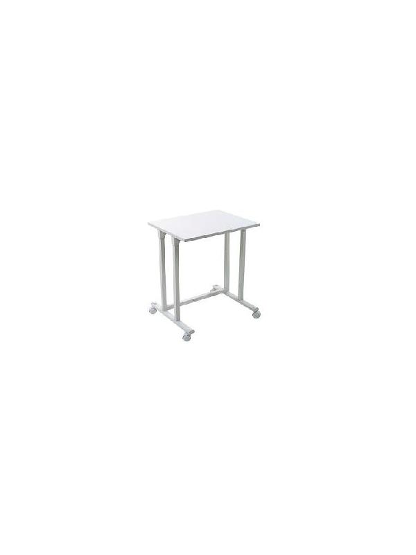 Mesa para maquina de escribir  metal - Mesa para maquina de escribir diseñada para trabajar de forma ergonómica y natural. Acabado metálico.