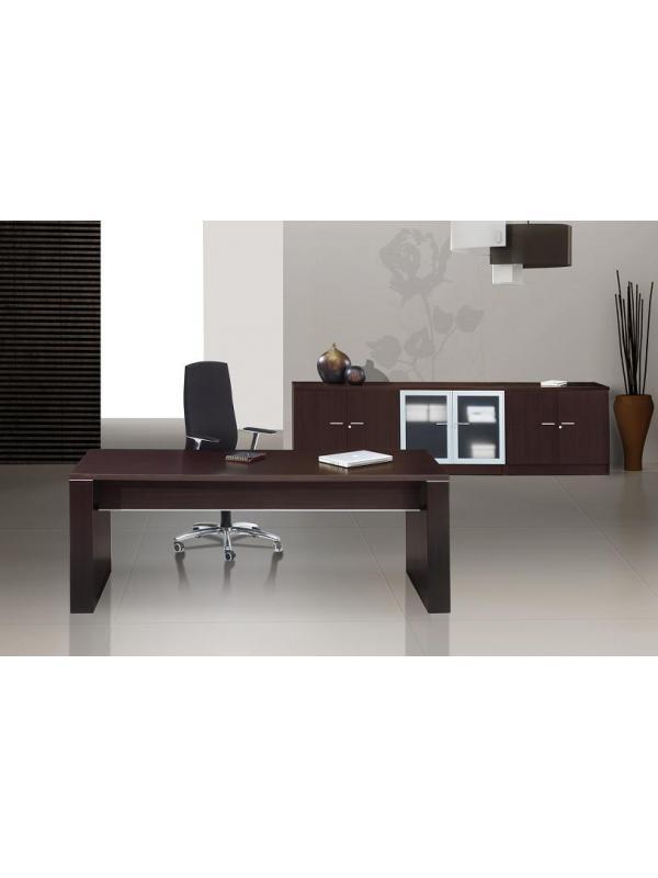 Mesa de despacho de 160 cm mobiliario de oficina for Mobiliario para despachos
