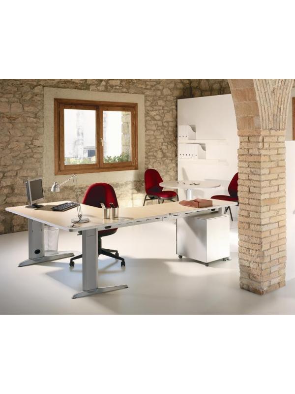 """Composición 06 de la linea Metal - Aquí tienes la última tendencia en mobiliario de oficina de línea minimalista con un plazo de entrega de 2 a 7 días. Solicítanos precios de estos productos por teléfono o mail mientras actualizamos la Web. Pulse sobre el botón """"descargar"""" para ver carac"""