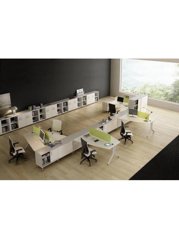 Mesas agrupadas de la serie BC nª 14 - Composición de muebles de la serie Barcelona, ejemplo de distribución de esta nueva serie de mobiliario, mientras introducimos todos los detalles, por favor solicite mas información por teléfono o mail.